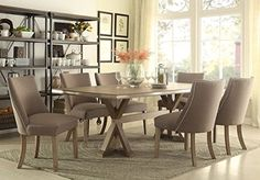 Beaugrand Trestle Dining Table In Light Oak