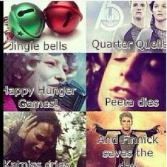 jingle bells quarter quells happy hunger games peeta dies katniss cries and finnick saves the day