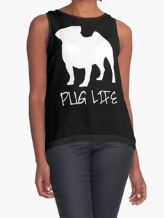 Pug Life by OutlineArt Life S, Pug Life, Pugs, Contrast, Tank Tops, My Style, People, Women, Fashion