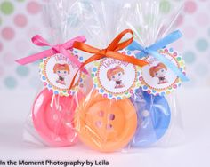 BUTTON SOAP FAVORS (10 Favors) - Lalaloopsy Inspired Soap, Lalaloopsy Favors, Baby Shower, Birthday Party Lala Favor