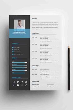 Ahsan Habib Resume Template ---CLICK IMAGE FOR MORE--- resume how to write a resume resume tips resume examples for student Modern Resume Template, Resume Design Template, Cv Template, Creative Resume Templates, Resume Tips, Resume Cv, Resume Help, Resume Ideas, Portfolio Web