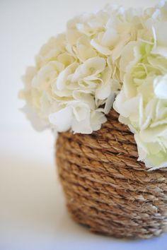 Rope Vase DIY - Cupcakes & Cashmere
