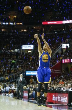 Golden State Warriors' Stephen Curry takes a shot in the first period during Game 6 of The NBA Finals between the Golden State Warriors and Cleveland Cavaliers at The Quicken Loans Arena on Tuesday, June 16, 2015 in Cleveland, Ohio. Photo: Scott Strazzante, The Chronicle