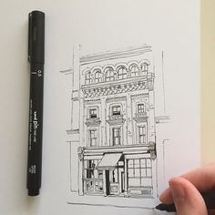 #art #drawing #pen #sketch #illustration #linedrawing #london #architecture #street