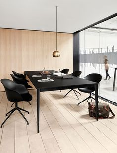 Conference tables - Torino conference table with cable tray - BoConcept Corporate Office Design, Modern Office Design, Office Interior Design, Office Interiors, Corporate Offices, Office Designs, Modern Offices, Conference Table Design, Conference Room Chairs
