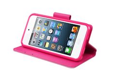 Kickstand Flip Wallet Snap-on Leather Protector Cases for iPod touch 5th Gen | Lagoo Tech