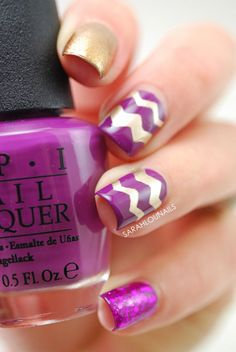 Purple & gold!!  Sarah Lou Nails