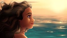 I was taking a break from commissions and i came across the Moana videos and i was captivated with the sea when Moana was talking to her grandma in the beach, so i painted one and added Moana. I can't wait for this movie to come...