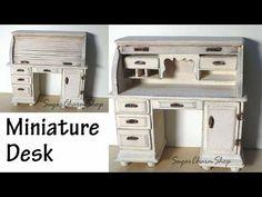 Miniature Furniture; Roll Top Desk Tutorial (Bonus Video) - YouTube