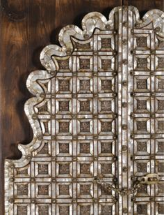 PAIR OF MOTHER-OF-PEARL WOODEN DOORS, INDIA, 18TH/19TH CENTURY