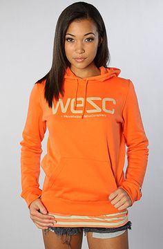 The WeSC Sweatshirt in Bright Coral by WeSC