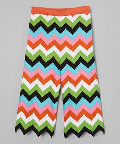Love this Green & Black Zigzag Pants - Infant, Toddler & Girls on #zulily! #zulilyfinds
