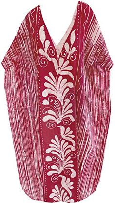 Womens Beachwear Long Casual Dress Caftan MAXI Evening Loose Dress Batik Maroon One_Size_Fits_Most Spring Summer 2017 * You can get additional details at the image link. Long Kaftan, Batik Dress, Kaftans, Beachwear For Women, Image Link, Swimsuits, Clothes For Women, Casual, Cotton
