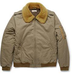 J.Crew - Wallace & Barnes Shearling-Collar Bomber Jacket|MR PORTER