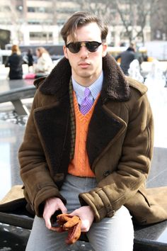 (I LOVE a man who takes a risk!)  RUNWAY TO REALWAY: Street style at #MBFW