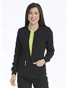 c6bfa9ec496 Women's 'Air Collection' Zip Front Air Touch Warm up Scrub Jacket