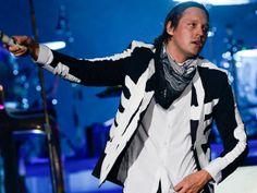 Banda Arcade Fire toca na noite deste domingo (6) no Lollapalooza (Foto: Flavio Moraes/G1)