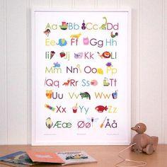 Alfabetet Nye, Gifts For Kids, Kids Room, Education, Barn, Frame, Poster, Shopping, Home Decor