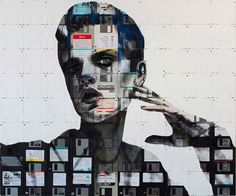 Floppy Disk mosaic portraits by Nick Gentry