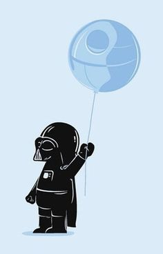 Child Vadar with Death Star Balloon!