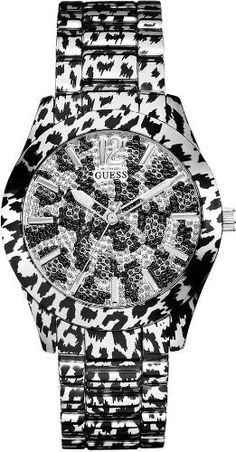 GUESS Silver-tone Sporty Animal-Print Magnetis GUESS. $112.35. water resistant. Women's jewelry. watch. animal print. analog function