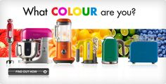 Kenwood Kitchen Coloured Appliances. What Colour  are You?