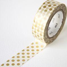 MT Gold Dot Washi Tape | Fox and Star UK