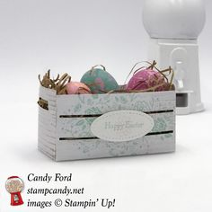 Happy Easter with the new Wood Textures Suite by Stampin' Up! #stampcandy