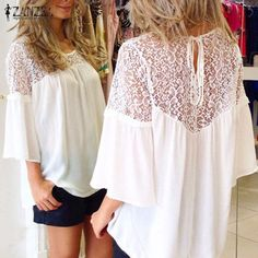Watch this product and see why millions are pouring in ZANZEA Plus Size ... a great product you can count on here http://www.costbuys.com/products/zanzea-plus-size-2016-european-summer-style-women-blusas-chiffon-patchwork-lace-solid-shirts-casual-loose-white-blouses-tops?utm_campaign=social_autopilot&utm_source=pin&utm_medium=pin