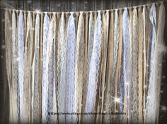 Rustic Country Charm Barn Wedding Burlap Lace Hanging Garland Swag Rag Tie Backdrop Wedding decor Hanging photo backdrop Prop size 6 ft X 6 Wedding Reception Backdrop, Backdrop Decorations, Rustic Wedding Decorations, Rustic Backdrop, Backdrop Ideas, Cake Table Backdrop, Rustic Wedding Backdrops, Reception Table, Lace Garland