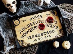 DIY OUIJA BOARD TRAY >> great idea for Halloween party decor!!