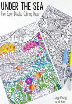 Absolutely Beautiful These Under The Sea Coloring Pages For Adults