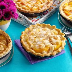 Ginger Peach Pies Recipe from Taste of Home -- shared by Rae Endicott of Branson, Missouri