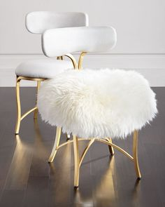 Swanson Sheepskin Side Chair, Soft White - Cynthia Rowley for Hooker Furniture