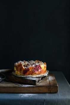 From The Kitchen: Rhubarb Croissant Bread and Butter Pudding Cake