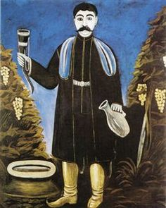 `prince` avec un klaxon des du vin - (Niko Pirosmani)