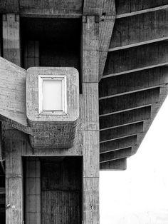 Visions of an Industrial Age // Clorindo Testa Biblioteca Nacinal Argentina Buenos Aires, 1962 Concrete Facade, Concrete Architecture, Concrete Structure, School Architecture, Interior Architecture, Monumental Architecture, Commercial Architecture, Built Environment, Brutalist