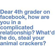 One of the reasons I'm not on fb....