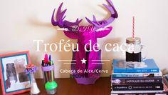 D.I.Y. Troféu de Caça | Cabeça de Alce/Cervo D.I.Y. Deer decoration
