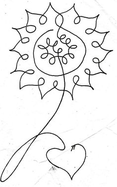 květina - jedním tahem Single Line Drawing, Continuous Line Drawing, Longarm Quilting, Free Motion Quilting, Doodle Patterns, Quilt Patterns, Machine Quilting Designs, Flower Doodles, Quilt Stitching