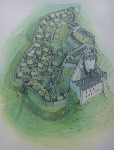 Dryslwyn Castle and Town Borough in Carmarthenshire, Wales by Chris Jones-Jenkins