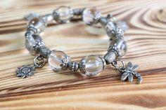 Vintage Japanese Powerstone Jewelry Natural Gemstone Stretch Bracelet by Mitoky on Etsy