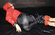 Pvc Trousers, Kidnapped Girl, Track Suits, Girl Tied Up, Rain Wear, Capes, Submissive, Female Bodies, Clutches