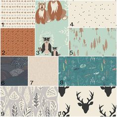 Bear Meadow in Timber, Baby Bedding Crib Set, Bear, Deer, Tree, Forest, Triangle, Mint, Teal, Turquoise, Gray, Brown Woodland Nursery