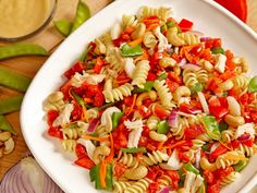 Chicken Cashew Pasta Salad - just one of the many spring recipes from Red Gold, Redpack and Tuttorosso Mayo Pasta Salad Recipes, Italian Dressing Recipes, Pasta Lunch, Costa, Chicken Recipes Video, Lunch Box Recipes, Spring Recipes, Ethnic Recipes, Red Gold