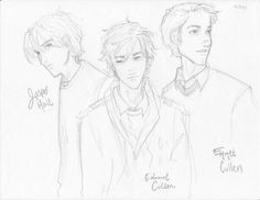 The Cullen Boys by burdge on DeviantArt Saga Art, Burdge Bug, The Cullen, Twilight Saga, Coven, Art Inspo, Art Sketches, Illustrators, Coloring Pages