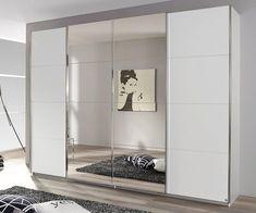 Bedroom Built In Wardrobe, Wardrobe Room, Ideas Armario, Sliding Door Wardrobe Designs, Mirror Closet Doors, Mirror Door, Closet Renovation, Bedroom Decor For Couples, House Front Design