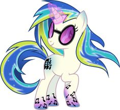 Rainbow Power DJ-Pon3 by TheShadowStone.deviantart.com *ADOPTED/TAKEN* by @TheTrottingDead