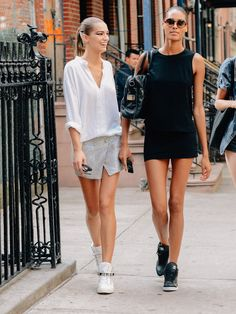 casual basic sporty look- good for walking around a lot.