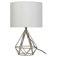 Need TWO - Geometric Metal Small Table Lamp (Includes CFL bulb) - Room Essentials™ : Target